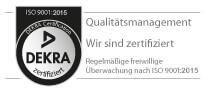 DEKRA Qualitätssiegel nach ISO 9001:2015