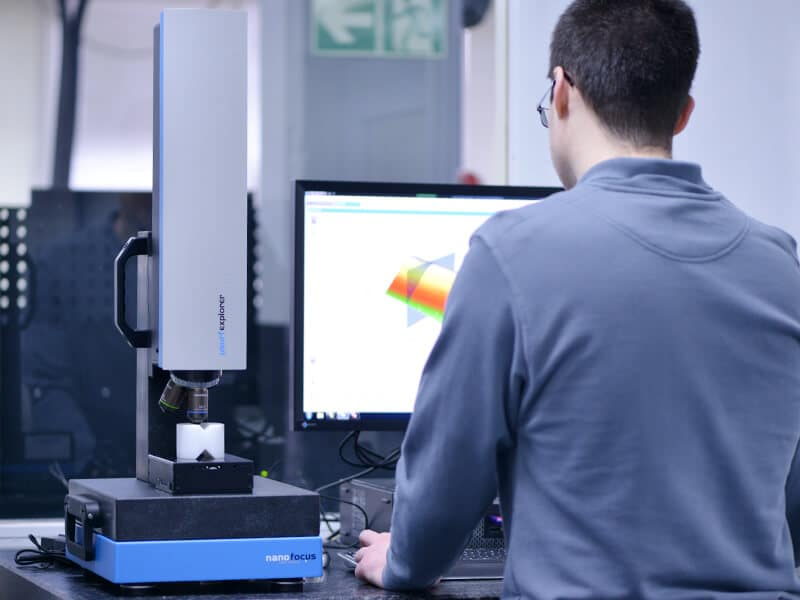 Nanofocus Kantenradien